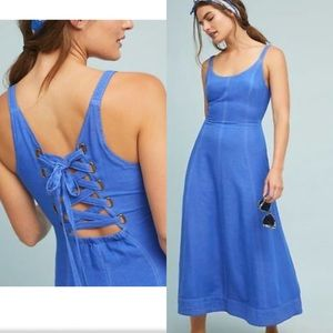 Maeve by Anthropologie blue dress